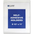 "C-Line Self-Adhesive Seal Shop Ticket Holders - Letter - 8 1/2"" x 11"" Sheet Size - Vinyl - Clear - 50 / Box"