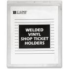 "C-Line Vinyl Shop Ticket Holders - 9"" x 12"" Sheet Size - Vinyl - Clear - 50 / Box"