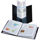 "Cardinal SpineVue ShowFile Presentation Book - Letter - 8 1/2"" x 11"" Sheet Size - 24 Sheet Capacity - 12 Internal Pocket(s) - Polypropylene - Black - 181.4 g - 1 Each"