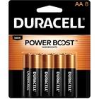 Duracell Coppertop Alkaline AA Battery - MN1500 - For Multipurpose - AA - Alkaline - 8 / Pack