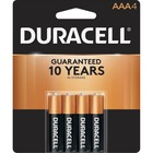 Duracell Coppertop Alkaline AAA Battery - MN2400 - For Multipurpose - AAA - 1.5 V DC - Alkaline - 4 / Pack