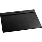 "Rolodex Wood Tones Desk Pads - Rectangle - 24"" (609.60 mm) Width x 19"" (482.60 mm) Depth - Felt - Wood - Black"