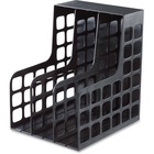 Oxford Decorack Shelf File - 2 Divider(s) - Black - Plastic - 1 Each