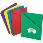 "Pendaflex Slash Pocket 3-hole Project Folders - For Letter 8 1/2"" x 11"" Sheet - Multi - 25 / Pack"