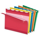 "Pendaflex Ready-Tab Color Hanging Folders - Letter - 8 1/2"" x 11"" Sheet Size - 1/5 Tab Cut - Assorted - Recycled - 25 / Box"