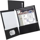 "Oxford Showfolio Laminated Portfolios - Letter - 8 1/2"" x 11"" Sheet Size - 2 Pocket(s) - Black - 25 / Box"