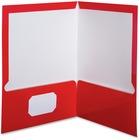 "Oxford Showfolio Laminated Portfolios - Letter - 8 1/2"" x 11"" Sheet Size - 100 Sheet Capacity - 2 Pocket(s) - Red - 25 / Box"