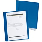 """Oxford Extra-Wide Report Cover - Letter - 8 1/2"""" x 11"""" Sheet Size - 100 Sheet Capacity - 3 Fastener(s) - 1/2"""" Fastener Capacity for Folder - Clear - Recycled - 25 / Box"""