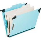 "Pendaflex Blue Pressboard Hanging Classification Folder - Legal - 8 1/2"" x 14"" Sheet Size - 2"" Expansion - 2 3/4"" Fastener Capacity for Folder - 2 Divider(s) - 25 pt. Folder Thickness - Pressboard - Blue - Recycled - 1 Each"