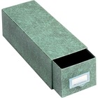 """Globe-Weis Agate Index Card Storage Drawers - Internal Dimensions: 5"""" (127 mm) Width x 3"""" (76.20 mm) HeightExternal Dimensions: 14.5"""" Depth - Heavy Duty - Fiberboard - Green - For Card - Recycled - 1 Each"""