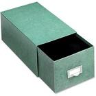 "Globe-Weis Agate Index Card Storage Drawers - Internal Dimensions: 8"" (203.20 mm) Width x 5"" (127 mm) HeightExternal Dimensions: 14.5"" Depth - Heavy Duty - Fiberboard - Green - For Card - 1 Each"