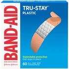 "Band-Aid Plastic Strips Adhesive Bandages - 0.75"" (19.05 mm) - 60/Box - Tan"