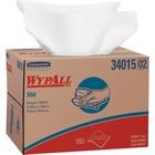 "Kimberly-Clark Wypall X60 Wipers - 12.5"" x 16.8"" - White - 180 Quantity Per Box - 180 / Carton"