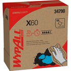 "Wypall X60 Cloths - 9.1"" x 16.8"" - White - Hydroknit - Lightweight, Absorbent, Residue-free, Durable, Strong, Reinforced - For General Purpose - 126 / Box"