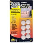 "Mighty Movers Furniture Slider, Self-Stick, 1"" dia. - 0.4"" Thickness x 1"" Diameter - Polymer Plastic - Beige"