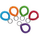 MMF Wrist Coil Key Rings - Plastic - 10 / Box - Assorted