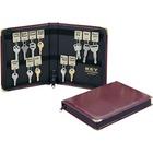 "MMF Carrying Case Key - Burgundy - Vinyl - 8.75"" (222.25 mm) Height x 7"" (177.80 mm) Width x 1.25"" (31.75 mm) Depth"