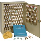 """Steelmaster Two-Tag Cabinet - 120 Keys - 16.5"""" x 5"""" x 20.5"""" - Security Lock - Sand - Steel - Recycled"""
