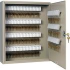 "Steelmaster Key Cabinet - 160-Key Capacity - 16.5"" x 4.9"" x 20.1"" - Security Lock - Sand - Steel - Recycled"