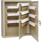"Steelmaster Key Cabinet - 240-Key Capacity - 16.5"" x 4.9"" x 20.1"" - 1 x Door(s) - Scratch Resistant, Chip Resistant, Locking Door, Key Lock, Sturdy, Wall Mountable - Sand - Steel - Recycled"