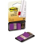 """Post-it® Standard Tape Flags - 50 x Purple - 1"""" x 1.75"""" - Purple - Removable, Self-adhesive - 1 Pack"""