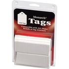 "Monarch Stringless White Tags - 1.13"" (28.58 mm) Length x 1.75"" (44.45 mm) Width - Rectangular - 1000 / Pack - Paper - White"