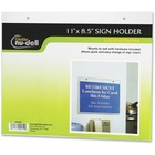 "NuDell Acrylic Sign Holders - Support 11"" (279.40 mm) x 8.50"" (215.90 mm) Media - Acrylic - 1 / Each - Clear"