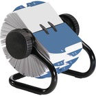 "Rolodex Open Classic Rotary Files - 500 Card Capacity - For 2.25"" (57.15 mm) x 4"" (101.60 mm) Size Card - 24 A to Z Index Guide - Black"