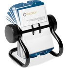 "Rolodex Rotary A-Z Index Business Card Files - 400 Card Capacity - For 2.25"" (57.15 mm) x 4"" (101.60 mm) Size Card - 24 Index Guide - Black"