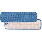 "Rubbermaid Microfiber Wet Room Pad - 18.50"" (469.90 mm) x 5.50"" (139.70 mm) - Hypoallergenic, Non-abrasive - 1 Each - Blue"