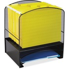 Safco Mesh Hanging File and Letter Tray Rack - Letter - Steel - Black - 1 Each