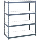 """Safco Archival Shelving Steel Frame Box 1 of 2 - 69"""" x 33"""" x 84"""" - 4 x Shelf(ves) - Legal, Letter - 1133.98 kg Load Capacity - Security Lock - Gray - Powder Coated - Steel, Particleboard - Assembly Required"""