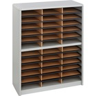 """Safco Value Sorter Literature Organizer - 550 x Sheet - 36 Compartment(s) - Compartment Size 2.50"""" (63.50 mm) x 9.75"""" (247.65 mm) x 12.50"""" (317.50 mm) - 38"""" Height x 32.3"""" Width x 13.5"""" Depth - Gray - Steel, Fiberboard - 1 / Each"""