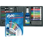 Expo Low-Odor Dry-erase Marker Kit - Fine Marker Point - Chisel Marker Point Style - Assorted - 12 / Set