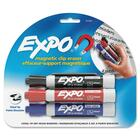 Expo Magnetic Clip Eraser - Chisel Marker Point Style - No - Red, Blue, Black