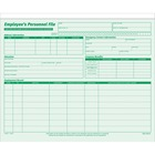 "TOPS Employee Record File Folders - 9 1/2"" x 11 3/4"" Sheet Size - Green - 20 / Pack"