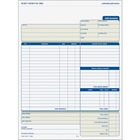 "TOPS Three-part Carbonless Job Invoice Forms - 3 PartCarbonless Copy - 8 1/2"" x 11"" Sheet Size - White, Canary, Manila - Assorted Sheet(s) - Blue Print Color - 50 / Pack"
