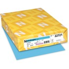 """Neenah Astrobrights Paper - Letter - 8 1/2"""" x 11"""" - 65 lb Basis Weight - Smooth - 250 / Pack - Lunar Blue"""