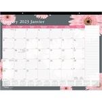 Blueline Pink Ribbon Collection Desk Pad Calendar