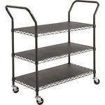 Safco 3-shelf Wire Utility Cart