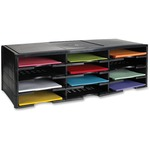 Storex 12-Compartment Litreature Organizers