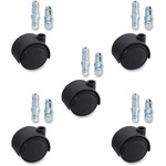 Lorell Premium Dual Soft Wheel Casters Set