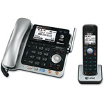 AT&T Connect to Cell TL86103 DECT 6.0 Cordless Phone - Silver Black