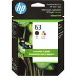 HP 63 Ink Cartridge - Black, Tri-color