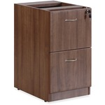 Lorell Essentials Series Walnut Hanging Pedestal - 2-Drawer
