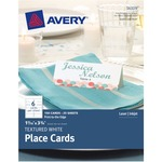 "Avery® Place Cards, Uncoated, 1-7/16"" x 3-3/4"", Textured, White, 150 Cards (16109)"