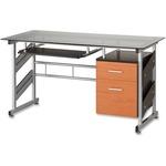 Heartwood Kuma Storage Pedestal Glass Desk