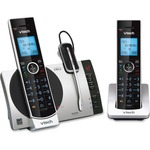VTech Connect to Cell DS6771-3 DECT 6.0 Cordless Phone - Black, Silver