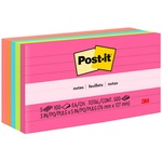 Post-it Notes, 3 in x 5 in, Cape Town Color Collection, Lined