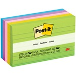 Post-it Notes, 3 in x 5 in, Jaipur Color Collection, Lined